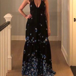 Alice + olivia silk maxi dress